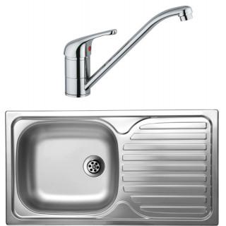 Kuchyňský set Sinks Kromevye 39 (dřez Classic 780 M + baterie Vento 4)