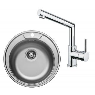 Kuchyňský set Sinks Kromevye 38 (dřez Rondo 510 V + baterie Mix 350 P)