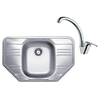 Kuchyňský set Sinks Kromevye 61 (dřez Cupid 780 + baterie Vento 55)