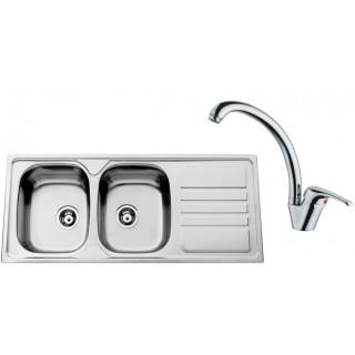 Kuchyňský set Sinks Rodi 67 (dřez Okio 1200 DUO + baterie Vento 55)