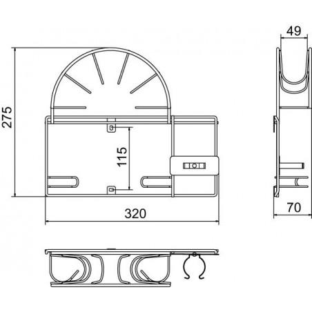 Držák na hadice vysavače Mivokor DHW - LS stříbrný