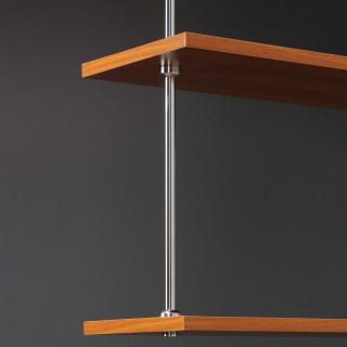 Závěsná tyč Mivokor K016 - C chrom, dvoustupňová