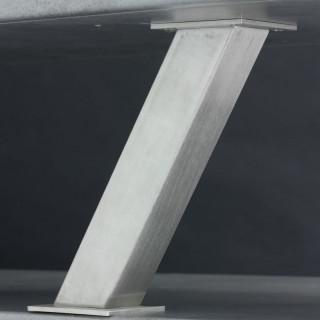 Konzola Mivokor K025.1 - C chrom, hranatá, šikmá, 50x50x233 mm
