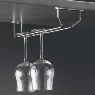 Podvěsný držák sklenic Mivokor PD1 - C chrom, jednořadý