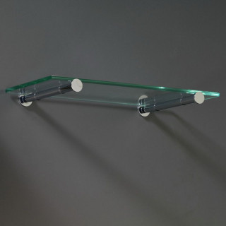 Podpěra skleněné police Mivokor PSP.1E - S satén, excentrická, délka 200 mm