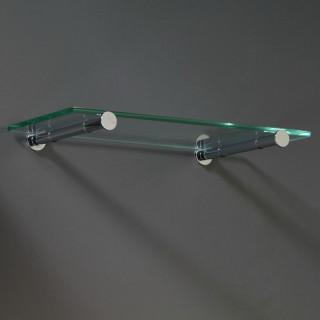 Podpěra skleněné police Mivokor PSP.3E - C chrom, excentrická, délka 160 mm