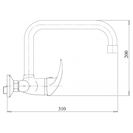 Kuchyňská, koupelnová baterie Metalia 55 55031.0 Chrom, plná páčka, 150 mm