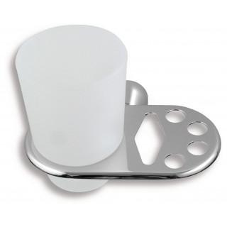 Držák kartáčků a skleničky Metalia 3 6349.0 Chrom