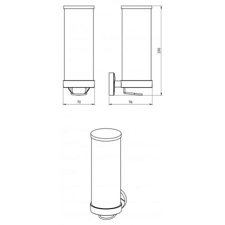 Zásobník na kosmetické tampony Metalia 11 0172.0 Chrom, sklo