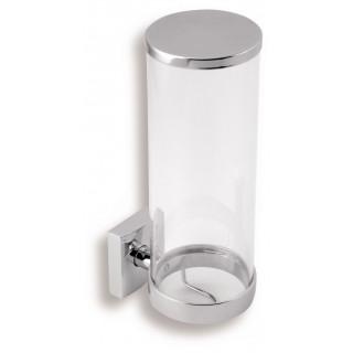 Zásobník na kosmetické tampony Metalia 12 0272.0 Chrom, sklo