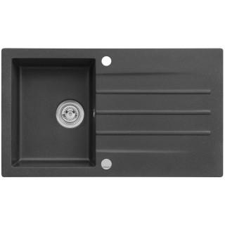 Kuchyňský dřez Alveus Cortina 130 Black 91, s excentrem