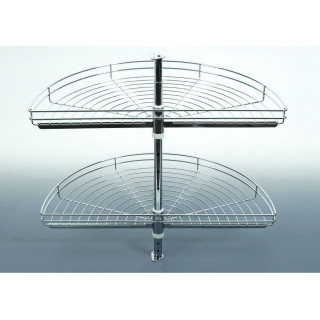 Karusel NOVA 1/2, pr. 750 mm, 2 patrový, stříbrošedý lak