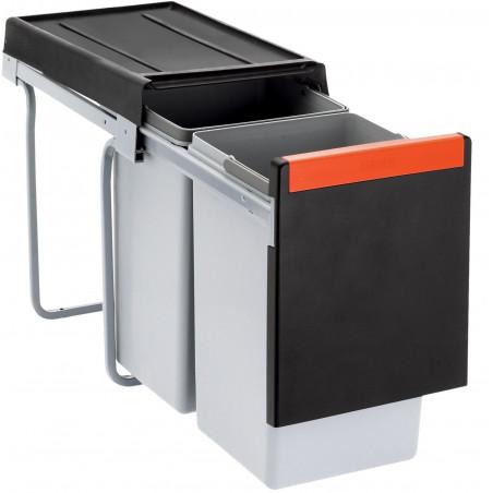 Odpadkový koš Franke Cube 30, 2x 15 l
