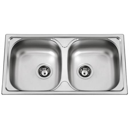 Kuchyňský dřez Sinks Okio 780 DUO V 0,5 mm, matný